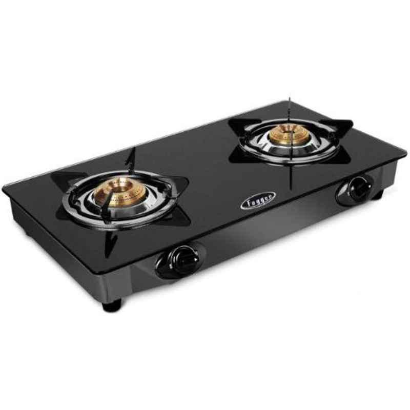 Fogger Nano 2 Burner Manual Ignition Gas Stove with Glass Top, FGN-214