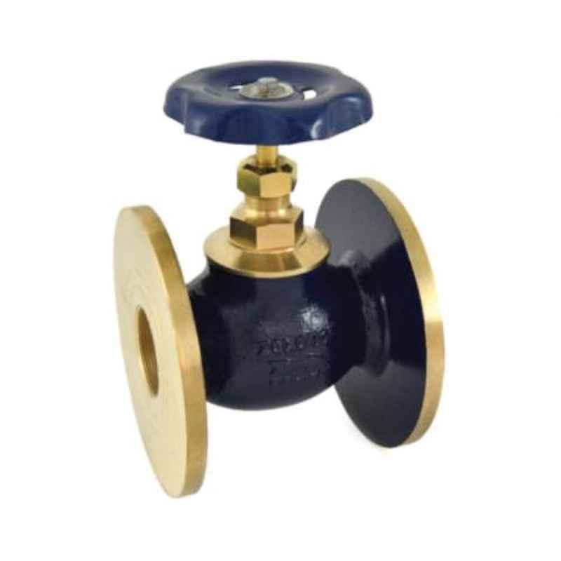 Zoloto 1-1/2 inch Bronze Globe Flanged Valve, 1034-40