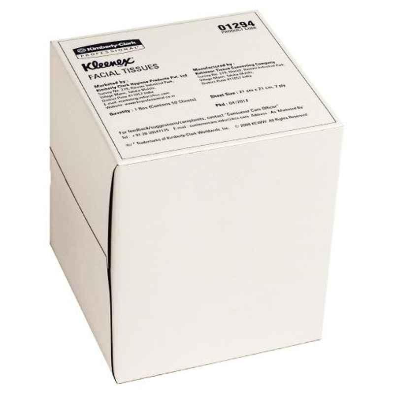 Kleenex 50 Pcs 20x20cm 2 Ply Facial Tissue Box, 1294 (Pack of 60)