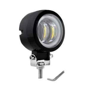 AllExtreme EX3IHR1 3 inch 20W White Round Fog Light with Red Halo Angel Eye Ring