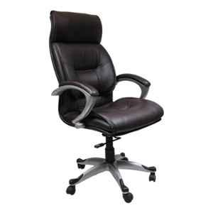 Caddy PU Leatherette Black Adjustable Office Chair with Back Support, DM 62