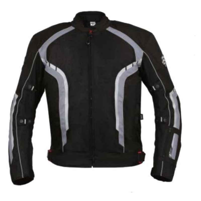 Biking Brotherhood Orange Cordura & Mesh Panel Xplorer Riding Jacket, Size: Medium
