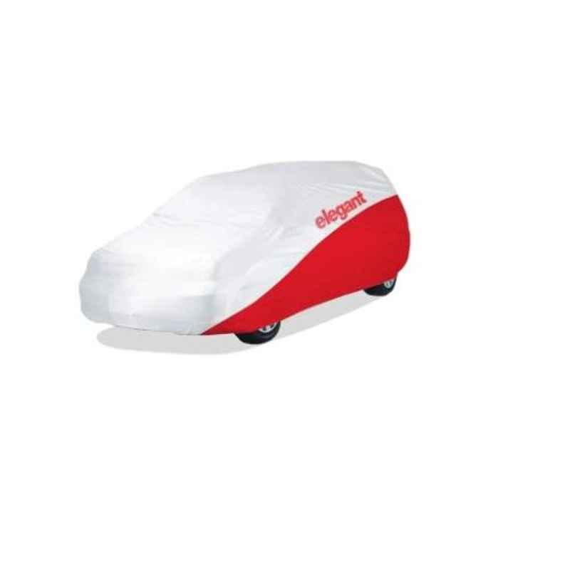 Elegant White & Red Water Resistant Car Body Cover for Volkswagen Passat