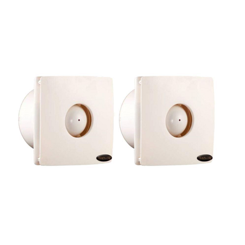 Black Cat Micro-006 Ivory Exhaust Fan, Sweep: 150 mm (Pack of 2)