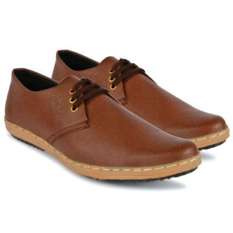 Mr Chief 975 Zara Brown Smart Casual Shoes for Men, Size: 7