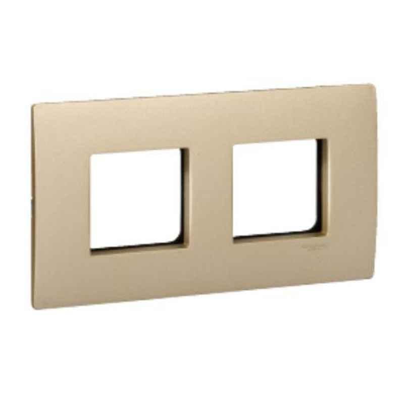 Schneider Opale 4 Module Matt Gold Grid & Cover Plate, AAKX0755 (Pack of 10)