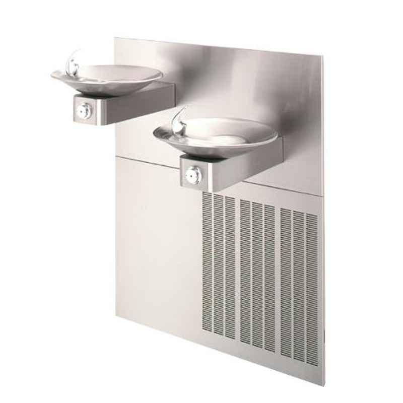 Haws 1011.8 Stainless Steel Barrier Chilled Dual Wall Mount Fountain