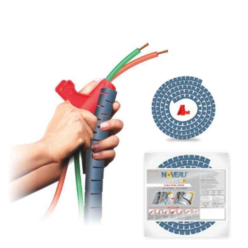 Noveau Safe-T-1ST 28mm 1.5mm Virgin HDPE Metallic Blue Cable Zipper, NSFZ28MU0105 (Pack of 2)