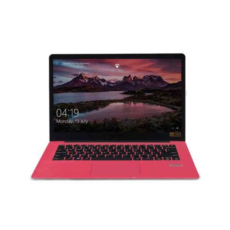 AVITA PURA AMD Ryzen 3 3200U/8GB DDR4/256GB HDD & 14 inch Display Sparkling Pink Laptop with 3 in 1 Grey Sleeve, NS14A6INU541-SKGYB
