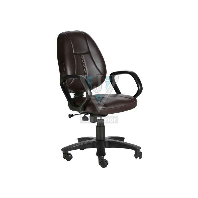 VJ Interior Brown The Galleta Mb Task Chair, VJ-411