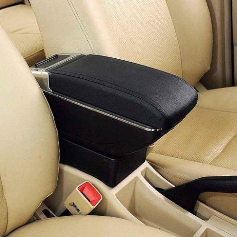 Auto Car Winner Black & Chrome Glass Holder & Ash Tray with Car Armrest