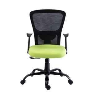 Bluebell Golf Ergonomic Med Back Black & Green Revolving Chair, BBVS02-EC04