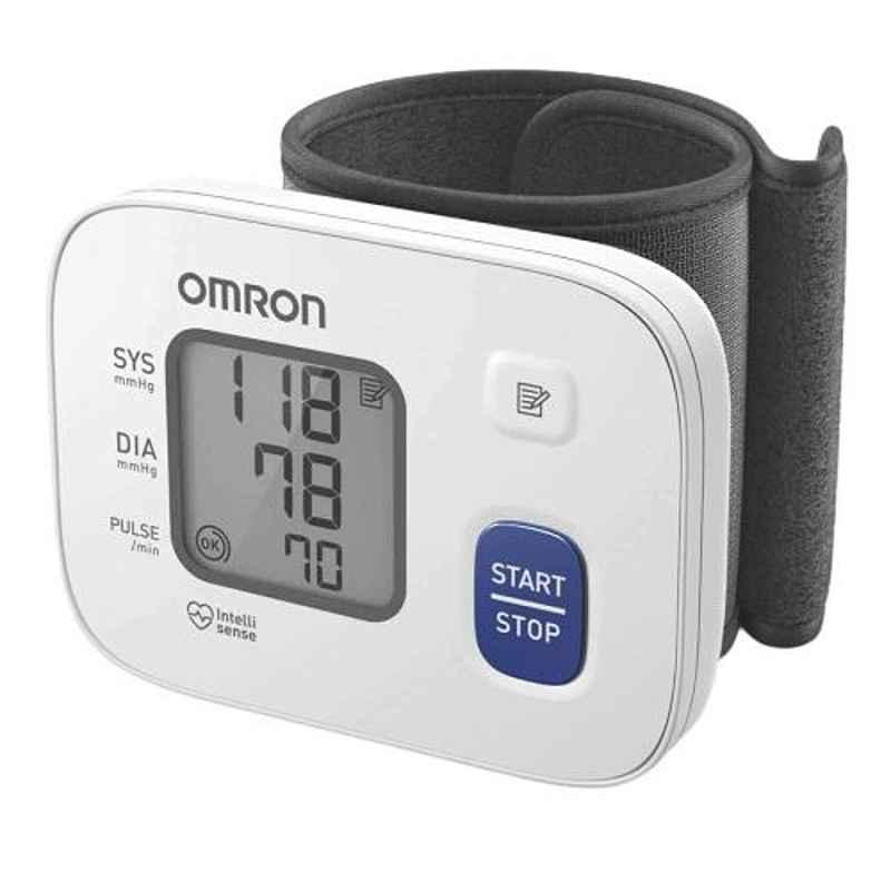 Omron HEM-6161 White Wrist Blood Pressure Monitor