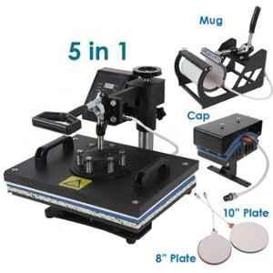 5 In 1 Heat Press Combo Machine, 1800W