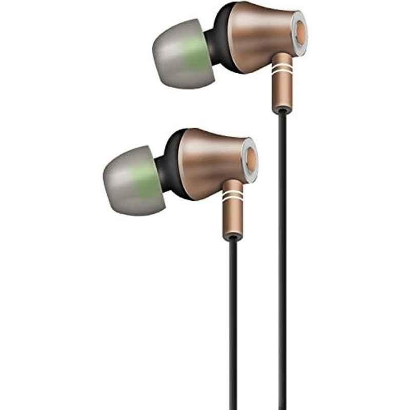 AT&T Metallic Gold In Ear Stereo Headphone with Mic, E10