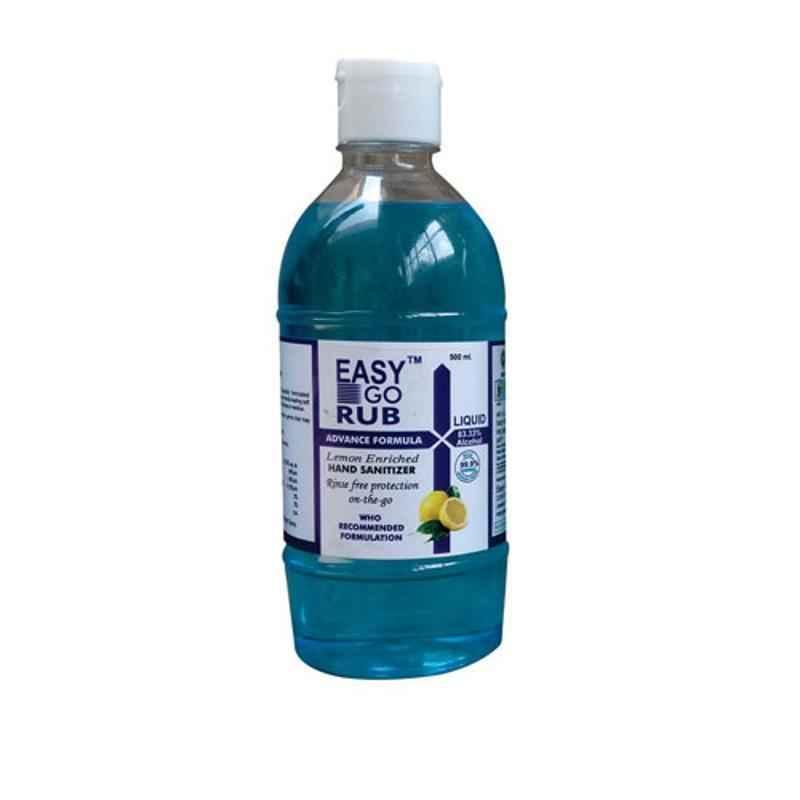 Easy Go Rub 500ml 83% Ethyl Alcohol Liquid Based Hand Sanitizer with Flip Top
