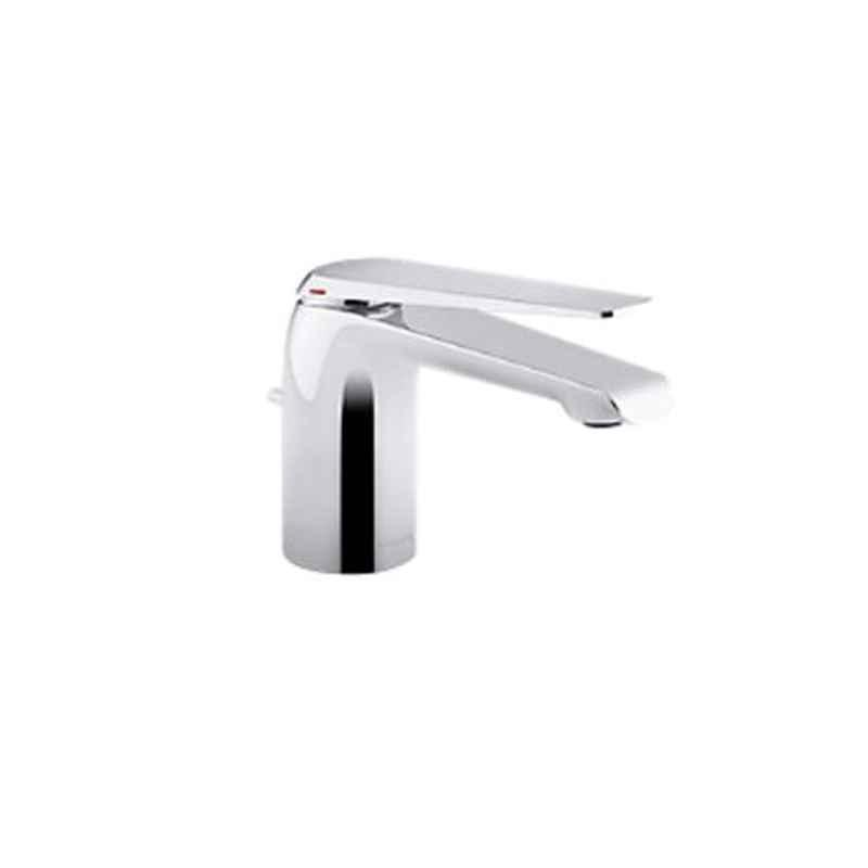 Kohler Avid Silver Brass Chrome Finish Lavatory Faucet with Drain, K-97345IN-4-CP