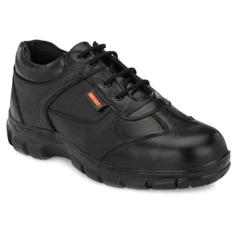Timberwood TW43 Leather Steel Toe Airmix Sole Black Safety Shoes, Size: 9