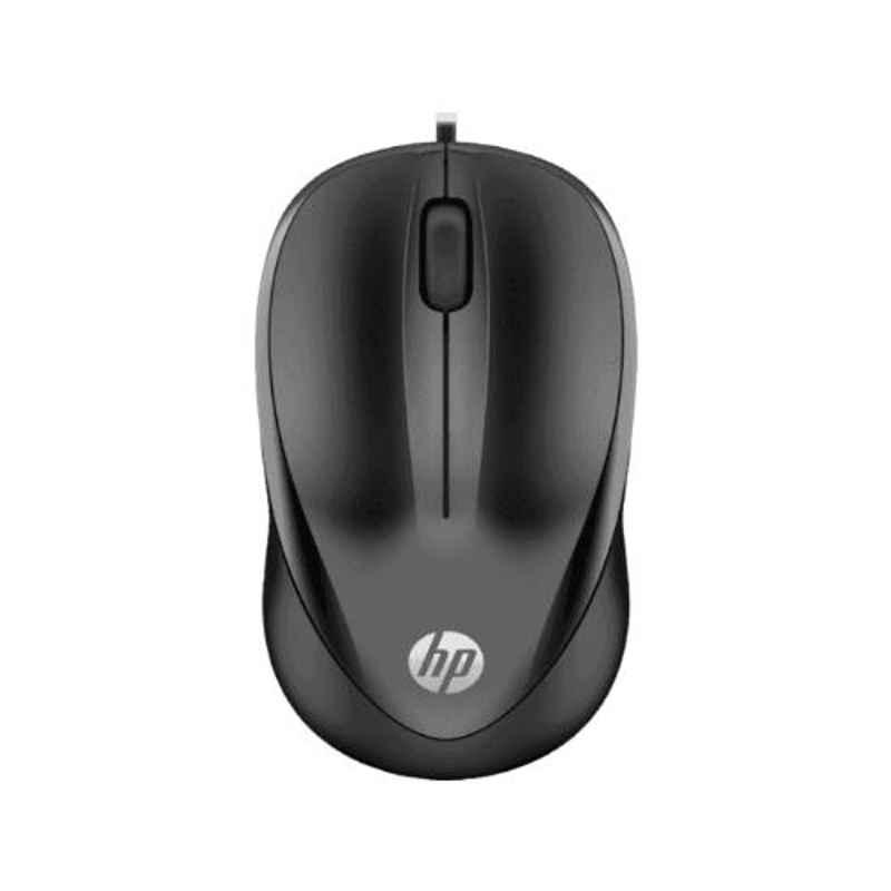 HP 1000 Black Wired Mouse, 4QM14AA