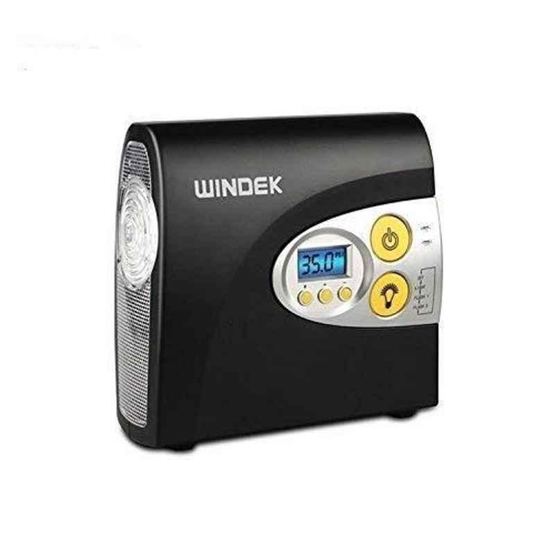 Windtek RCP_AL1E_1902 Black 12V Digital Tyre Inflator Air Compressor for Car