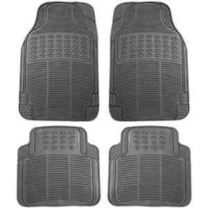 Love4ride 4 Pcs Black Rubber Car Floor Mat Set for Tata Manza