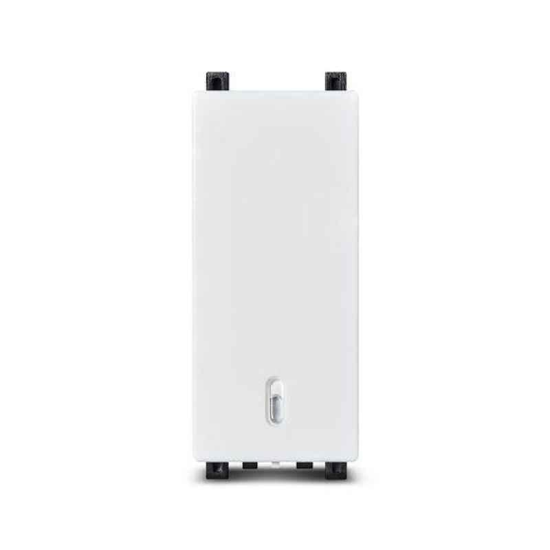 Schneider Zencelo 16-20A 2 Ways White Full Flat Switch, IN8402/16 (Pack of 10)