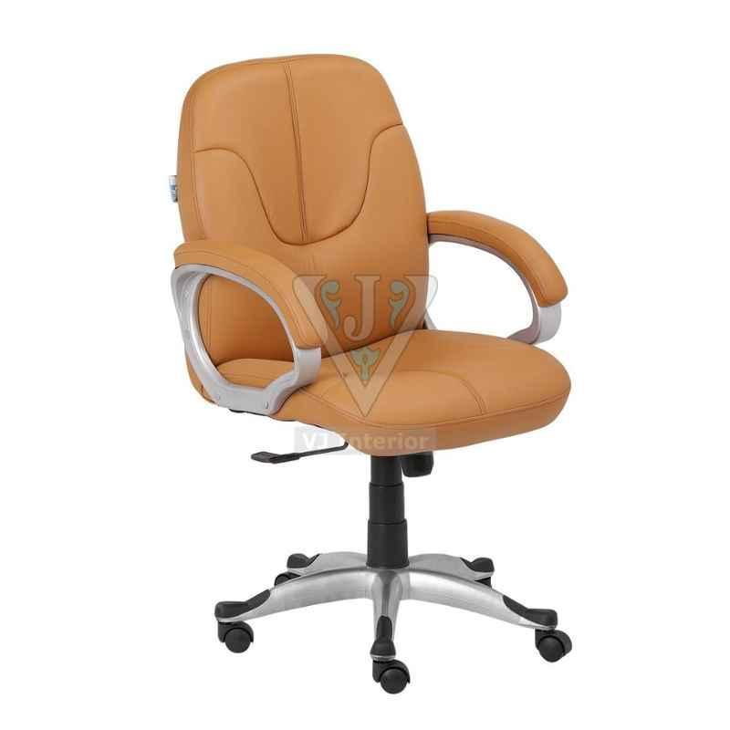 VJ Interior 17.5 inch Peach Leather Mid Back Executive Chair, VJ-1334