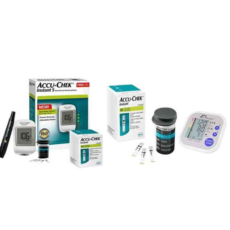 Dr. Morepen BP-02 Blood Pressure Monitor & Accu-Chek Instant S Meter Glucometer with 60 Test Strips