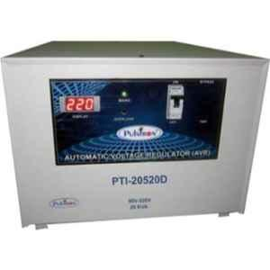 Pulstron PTI-20520D 20kVA 90-520V Double & Single Phase Grey Automatic Mainline Voltage Stabilizer
