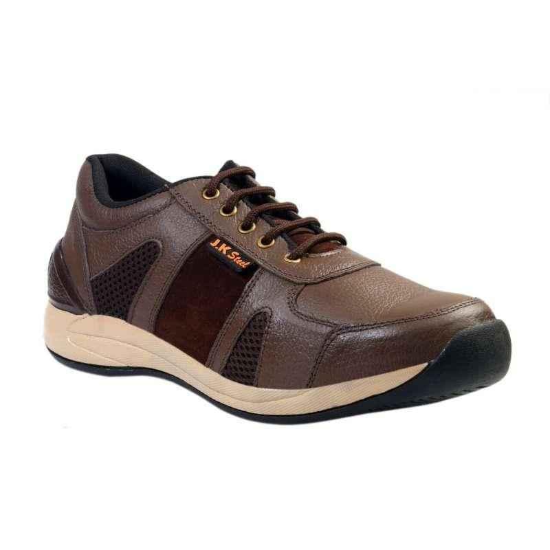 JK Steel JKPI002BN Steel Toe Safety Shoes, Size: 6