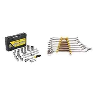 Stanley 24 Pieces 1/2 Inch Square Drive 6 PT Socket Set, STMT72795-8-12