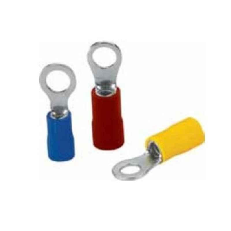 Aftec 3.7mm Electrolytic Copper Tin Plated Yellow Ring Terminal, ARI 6-3.7