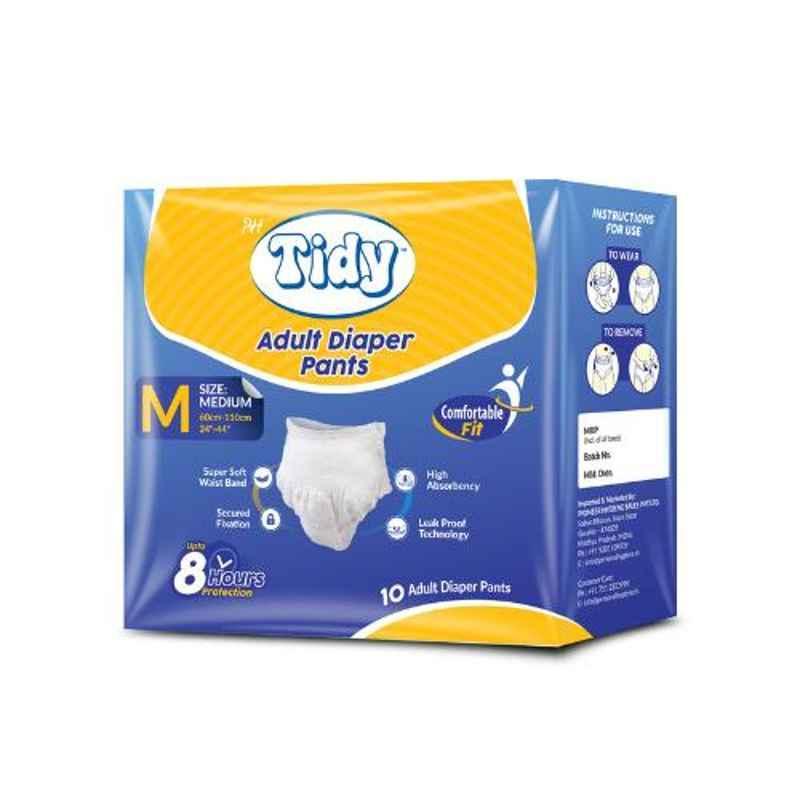 Tidy 60-110cm 10 Pcs Medium Adult Diapers, TAPUD-M-1