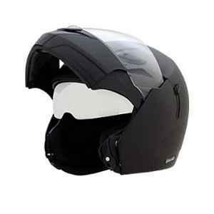 Vega Boolean BLN-DK-L Dull Black Flip Up with Double Visor Helmet, Size: M