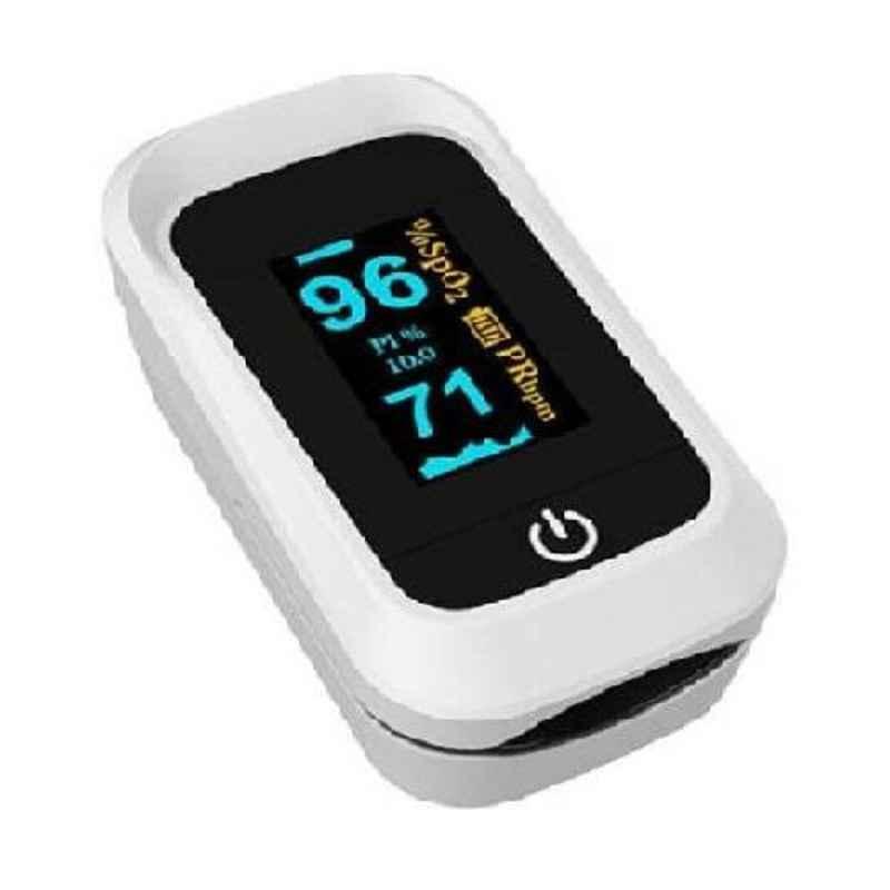 Perfecxa Q3 White Pulse Oximeter with OLED Display