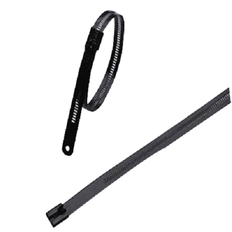 Aftec 7x150mm Non-Magnetic Stainless Steel Multi Lock Polyester Coated Cable Tie, ACTI 7-150 MLP
