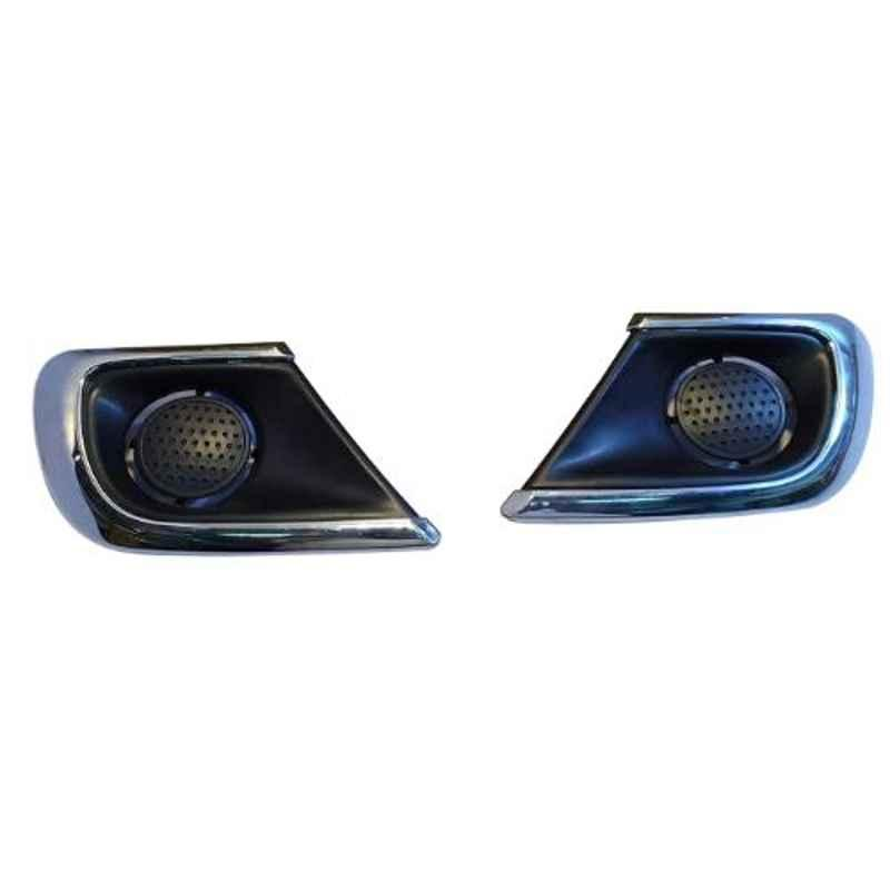Accurate 2 Pcs Front Bumber Fog Light Cover Set for Toyota Innova Type 4, FLC-INNC4