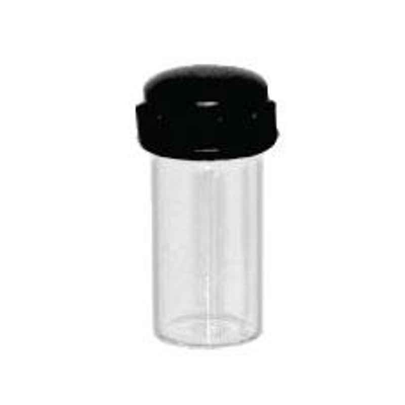 Axiva 5ml 45mm Flat Bottom Culture Tube with Screw Cap & Rubber Liner, CTF05N (Pack of 100)