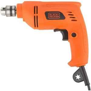Black & Decker 6.5mm 400W VSR Orange Rotary Drill, BD65RD-IN