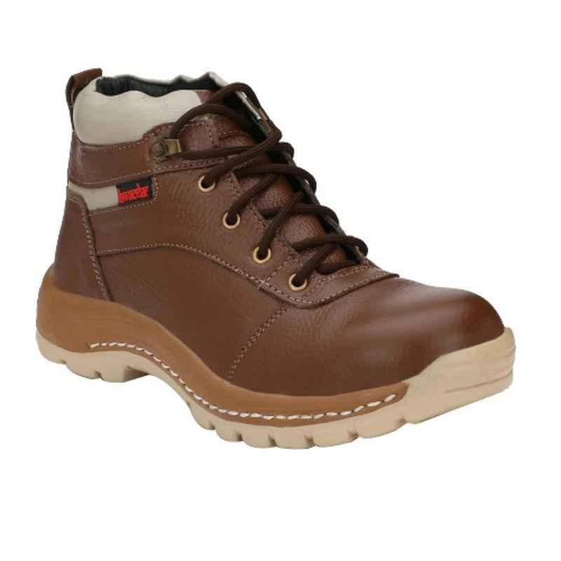 Kavacha S47 Steel Toe Brown Safety Shoes, Size: 6