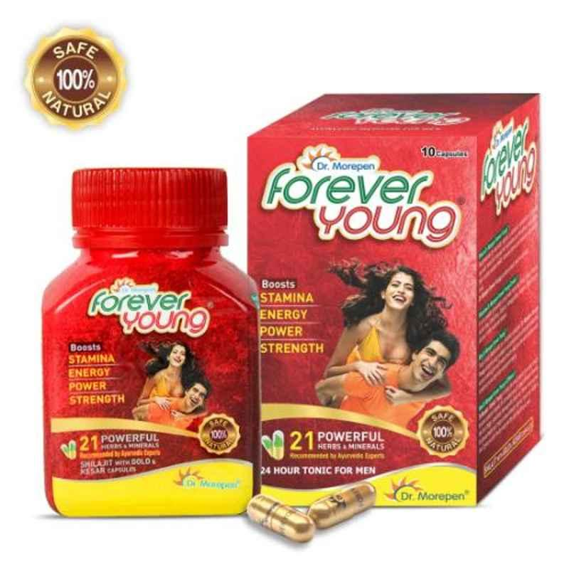 Dr. Morepen 10 Pcs Ayurvedic Shilajit Gold Capsules