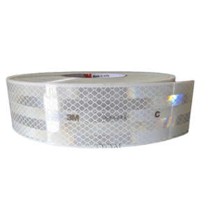 3M 2 inch White High Intensity Reflective Conspicuity Tape, Length: 165 ft