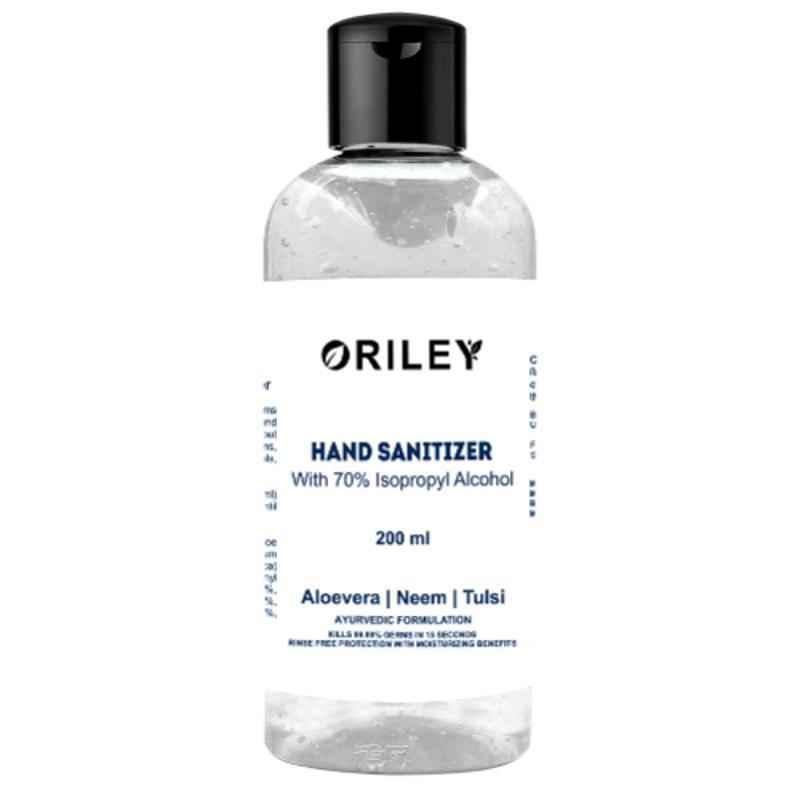 Oriley 200ml Isopropyl Alcohol Based Instant Germ Protection Gel Hand Sanitizer (Pack of 4)