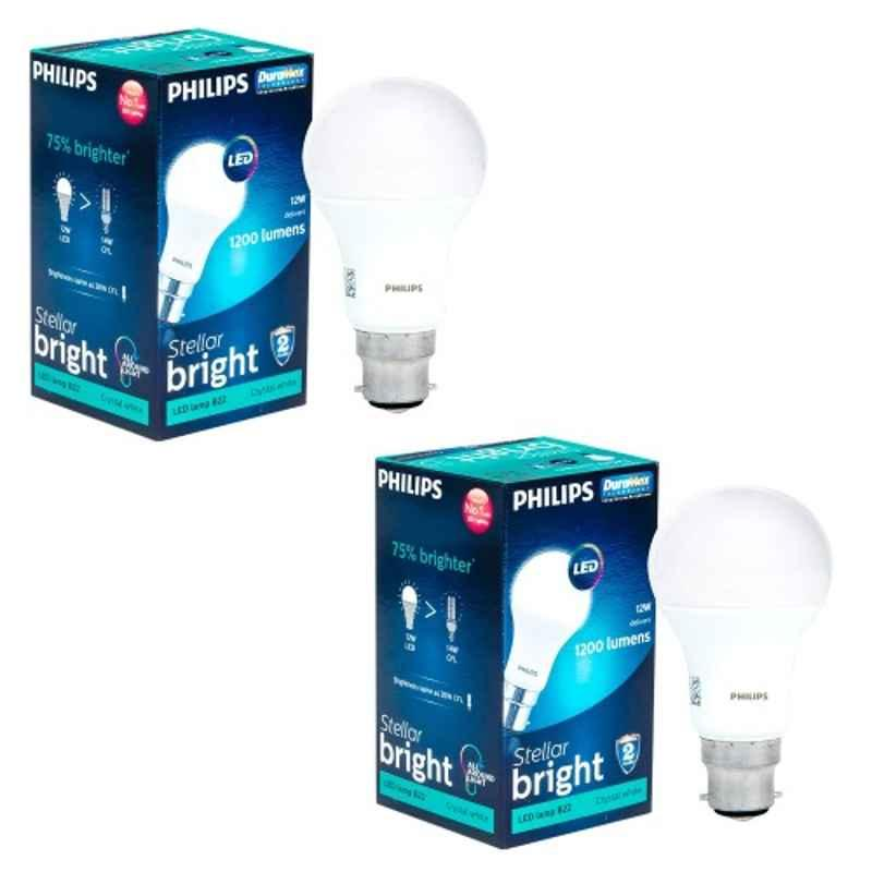 Philips 12W Cool Day Standard B22 LED Bulb, 929001277622 (Pack of 2)