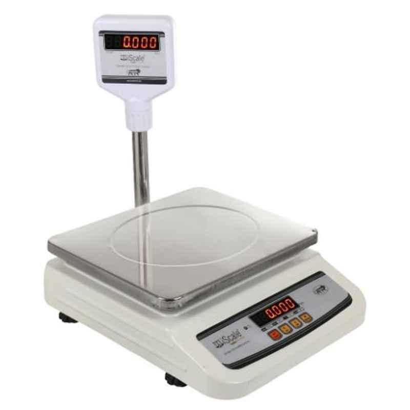 iScale i-01 30kg and 2g Digital Weighing Scale with Pole and SS Pan of 10x12 inch