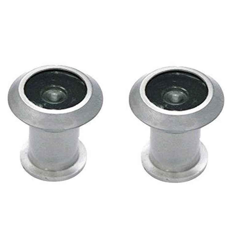 Smart Shophar 2 inch Zinc Alloy Silver Vista Light Weight Eye View, SHA20EV-VIST-LTSL02-P2 (Pack of 2)