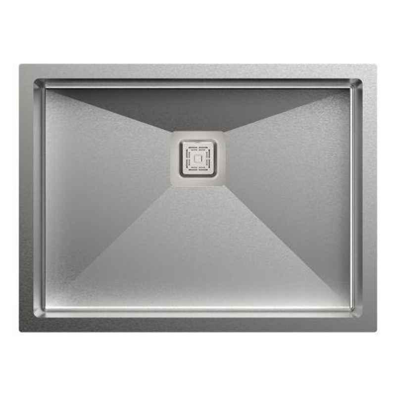 Carysil Micro Radius R10 Single Bowl Stainless Steel Matt Finish Kitchen Sink, Size: 24x18x8 inch