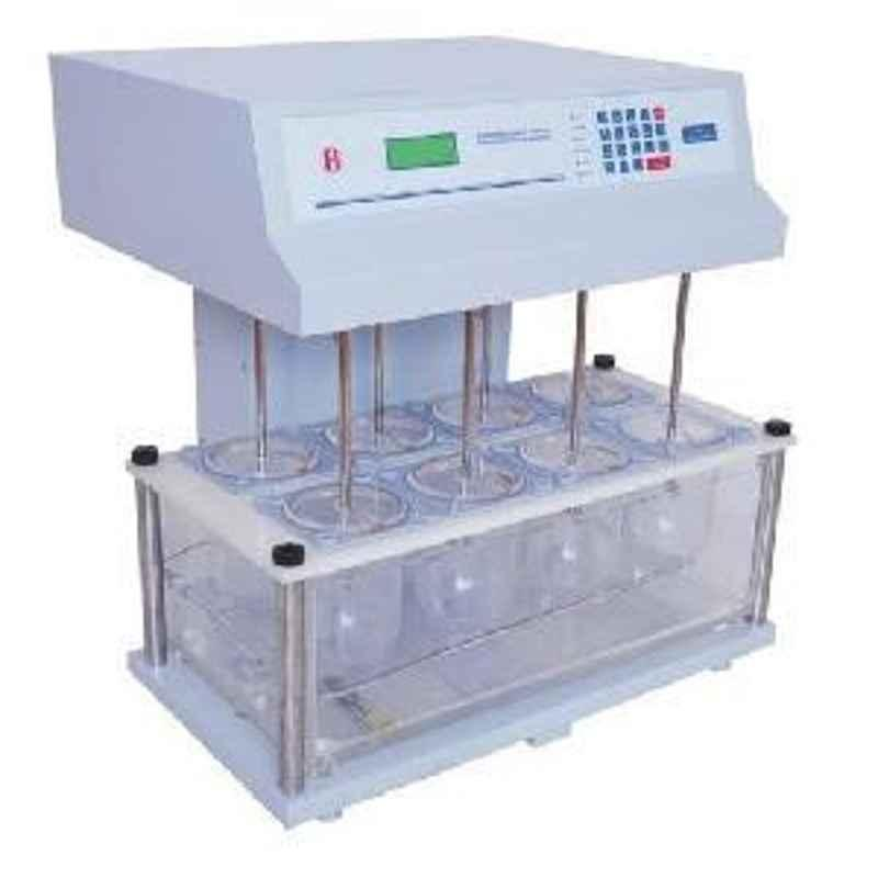 Electronics India 1916 Microprocessor Dissolution Test Apparatus with 25 - 200 RPM,+1 RPM Stirrer