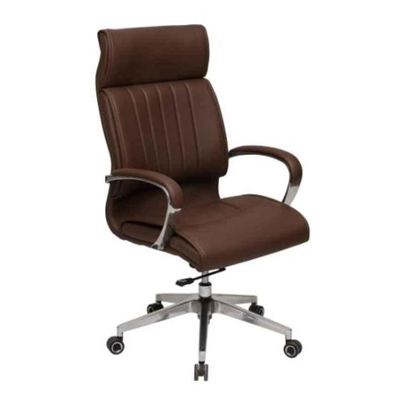 Evok Rider Leather Brown High Back Office Executive Chair, FFOFOCMNMTBR69442D