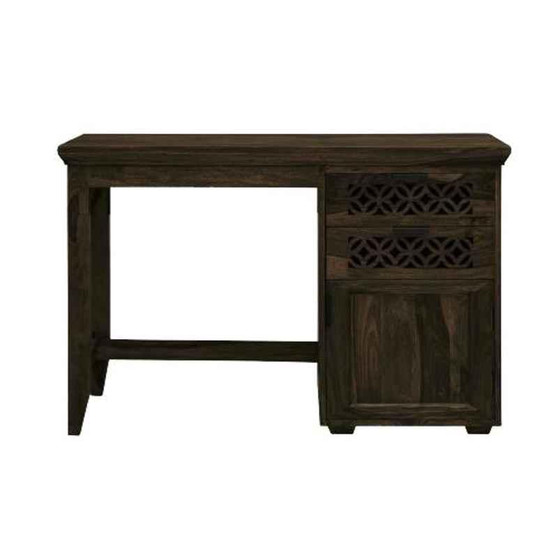The Attic 114x47x76cm Sheesham Wood Walnut Ambient Study Table, KL-1897